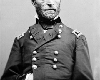 Portrait of William Sherman Civil War Photograph (Art Prints available in multiple sizes)