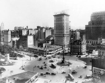 Columbus Circle Looking South NYC Photo (Art Prints available in multiple sizes)