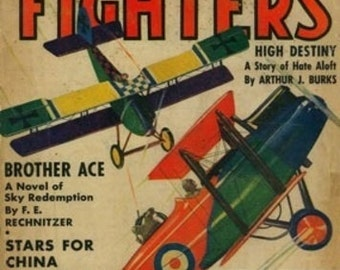 Sky Fighters Magazine Cover (Art Prints available in multiple sizes)