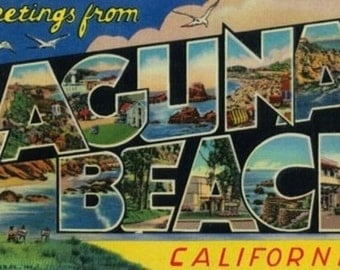 Greetings from Laguna Beach, California (Art Prints available in multiple sizes)