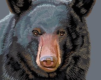 Sequoia National Park - Black Bear Up Close (Art Prints available in multiple sizes)