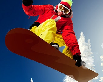 Snowboarder (Art Prints available in multiple sizes)