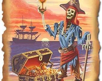 Florida - Pirate Plunder (Art Prints available in multiple sizes)