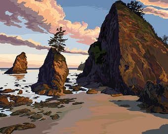 Kalaloch Beach - Olympic National Park, Washington (Art Prints available in multiple sizes)