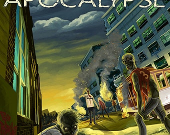 Zombie Apocalypse - Savannah, Georgia (Art Prints available in multiple sizes)