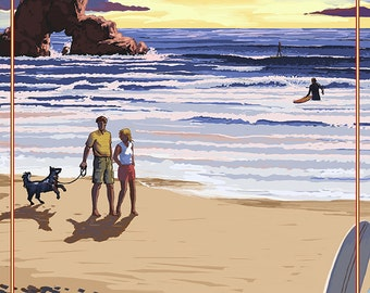 Indian Beach, Oregon Coast Scene (Art Prints available in multiple sizes)