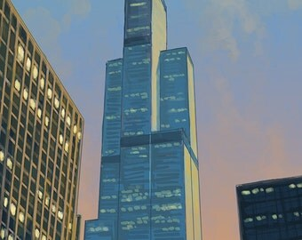 Sears Tower - Chicago, Illinois (Art Prints available in multiple sizes)