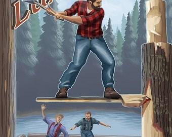 Canadian Lumberjacks (Art Prints available in multiple sizes)