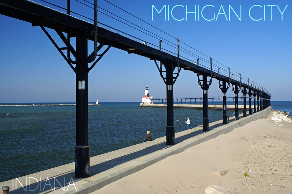 Michigan City Indiana Lighthouse 1 Art Prints Available In