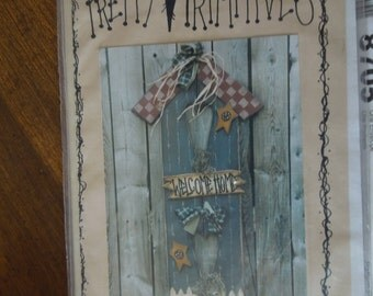 pretty primitives  32  welcome sign, wood crafts, wood pattern, craft supplies, bazaar, home decor