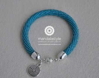 Mandala Style's bangle - Sapphire teal