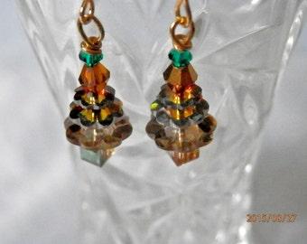 Christmas Tree Earrings  Golden