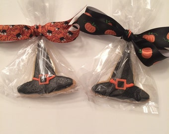Halloween Cookies Witches Hats