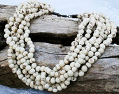Layered Acai Bead Ivory Necklace - On Sale - Save 35.00!