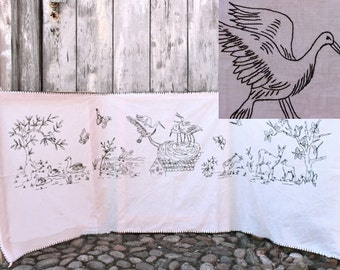 Vintage wall hanging nursery embroidered decor toddler birthday gift new baby shower