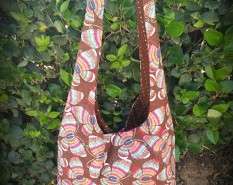 butterfly lined hobo bag purse