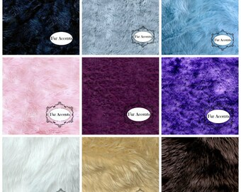 Sample Swatch Cutting for Faux fur rugs Throw blankets and Bedspreads