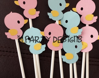 WHAT THE DUCK is it? GENDEr ReVEAL - What the Duck, Waddle it be? Cupcake toppers