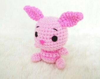 Amigurumi Crochet Definition : Amigurumi Crochet Doll White Chubby Bunny Key Chains