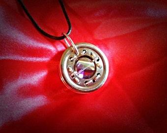 Divinity Cluster Jeweled Cyberpunk / Steampunk Pendant