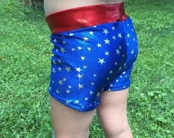 All-American Spandex Shorts / Volleyball Shorts / Cheer Shorts / Dancewear / Gymnastics Shorts / Girls practice wear / Super Hero Stars