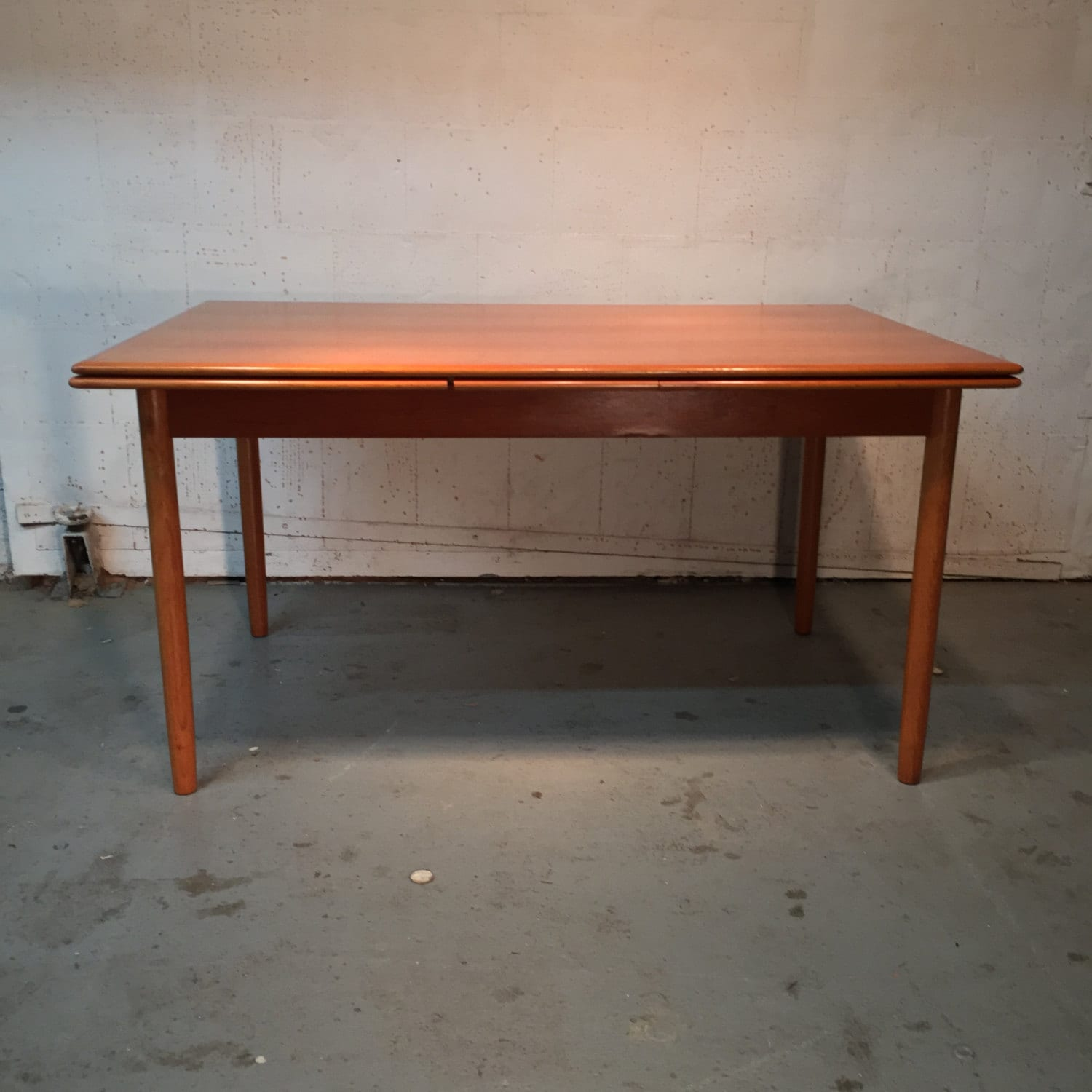 danish mid century modern teak dining table 775 obo free nyc