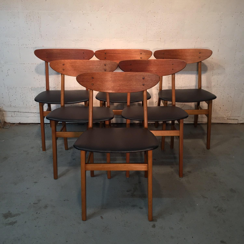 Set Of 6 Vintage Danish Mid Century Modern Farstrup Dining Chairs 1150 OBO