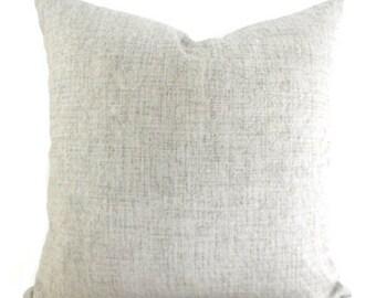 Robert Allen Outdoor Weavescene Embossed Grey Gray Decorative Throw Pillow Cover with Hidden Zipper