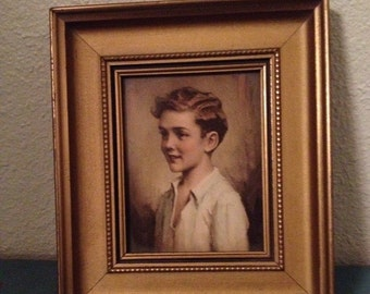 "Vinage Portrait Print "" Richard "" By C. Bosseron Chambers"