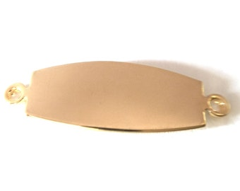 6x Gold Plated Name Plates / ID Tags - M098