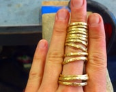 Hammered Brass Rings...