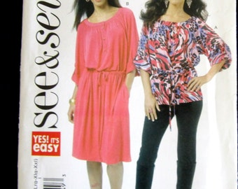 Easy Pattern Misses  Dress & Top Sizes XSmall Small Medium Large X Large XX Large