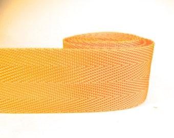 3 yards of 1.25 inch / 32mm dark yellow webbing, strap (WB26)