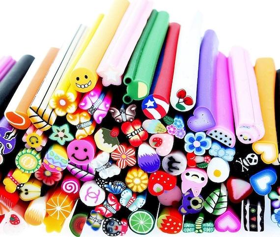 100 pcs 3d diy nail art fimo canes rods sticker tips for 3d nail art fimo canes rods decoration