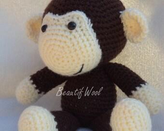Crochet Monkey - Monkey Face