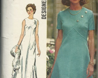 Simplicity 5911     Misses/Petite  Designer Dress in two lengths    Size 16