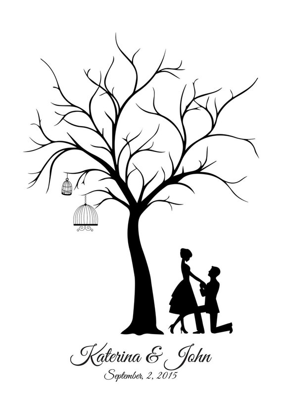 Wedding Guestbook Canvas Wedding Tree Guest Book Groom &