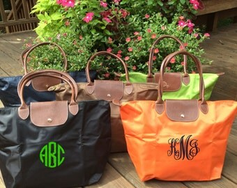 Fabulous Monogrammed Nylon Tote Bag -- Stylish, Chic, and Perfect For Everyday and Travel!