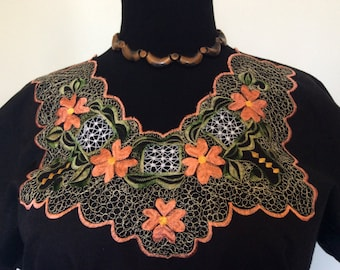 Floral Embroidered Blouse -XL