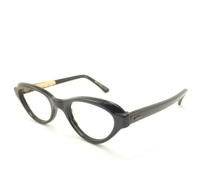 Vintage 50s Cateye Eyeglasses | 1950s Liberty Petite Black Cateye Glasses | NOS Eyeglass Frame | Deadstock Eyewear - Indeed