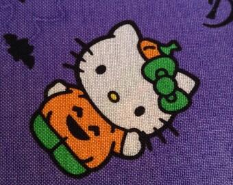 One Half Yard of Fabric Material - Hello Kitty Halloween