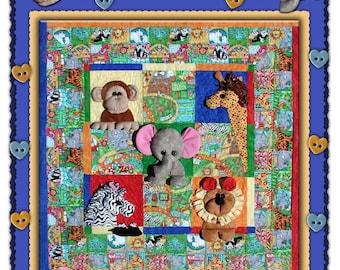 Thimble Art - It's a Jungle - Foundation Placed Pattern