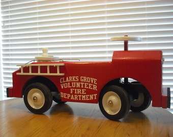 Childs Riding Toy .............FIRE TRUCK........Any town or name logo