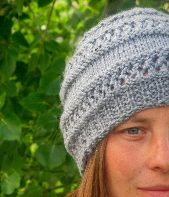 Adult Knit Hat Pattern : KNITTING PATTERN PDF Hat Adult Knit pattern by KnotEnufKnitting