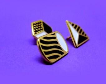 Geometric Enamel Pins