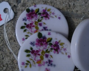 White Floral Pendents