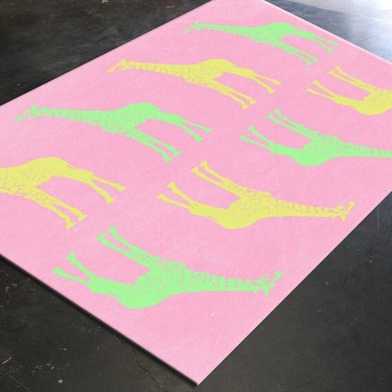 Girls Rugs Pink Rugs Girls Nursery Ideas Girl By HawkerPeddler