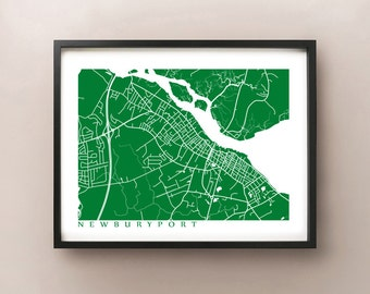 Newburyport Map Print - Massachusetts Poster
