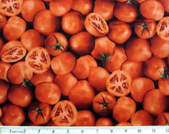 Realistic Vegetable Tomatoes Fabric From RJR