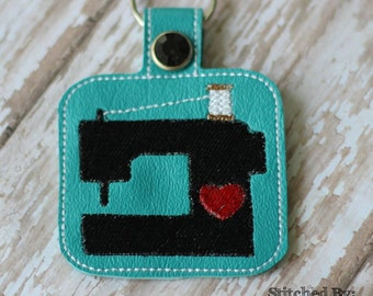 Sewing/Embroidery Machine - In The Hoop - Snap/Rivet Key Fob - DIGITAL Embroidery Design